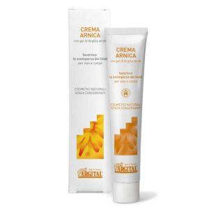 ONTS Βιολογικά και φυσικά προϊόντα για περιποίηση προσώπου και σώματος Argital Arnica cream Κρέμα με άρνικα για μελανιές και μώλωπες ενισχυμένη με πράσινο άργιλο