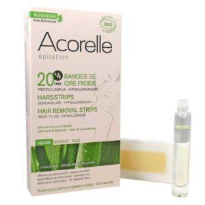 ONTS Φυσικά Βιολογικά και vegan προϊόντα περιποίησης προσώπου και σώματος Acorelle 100% φυσικές και πιστοποιημένες βιολογικές ταινίες αποτρίχωσης κρύου βιολογικού κεριού, έτοιμες για χρήση και ιδιαίτερα αποτελεσματικές για κοντές τρίχες 2 χιλ.