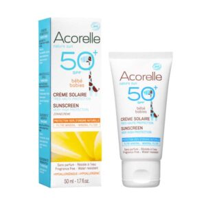 ONTS Φυσικά και Βιολογικά Προϊόντα Περιποίησης Προσώπου και σώματος Βιολογικό μακιγιάζ Acorelle, 100% βιολογική, αντηλιακή κρέμα για μωρά SPF50