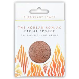 Konjac Sponge The Elements, Fire Facial Puff Σφουγγάρι Konjac με ηφαιστειογενή Scoria