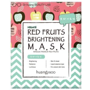 Huangjisoo Sheet Face Mask Red Fruit Brightening