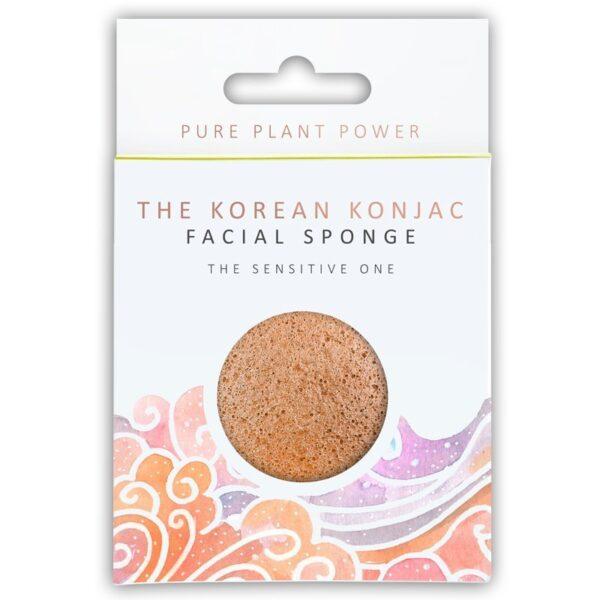 Konjac Sponge The Elements, Air Facial Puff Σφουγγάρι Konjac με Χαμομήλι και Ροζ Άργιλο