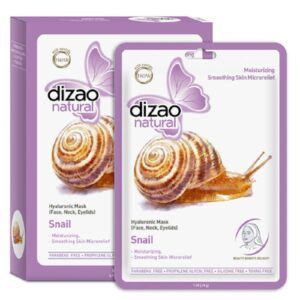Dizao Natural Φυσική full-face μάσκα προσώπου με βλέννα σαλιγκαριού & Υαλουρονικό οξύ