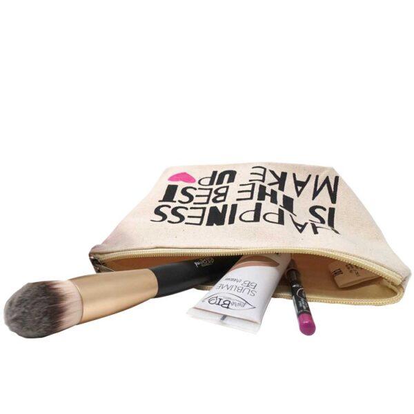 onts Purobio Cosmetics Βιολογικό Μακιγιάζ χειροποίητη τσαντάκι για καλλυντικά