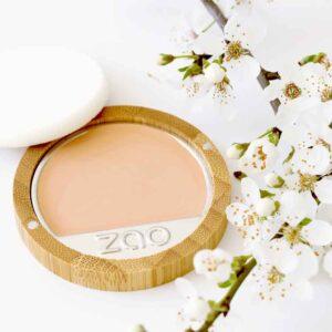ONTS Προϊόντα βιολογικού και vegan μακιγιάζ Zao Compact Foundation: Compact make up, 100% φυσικό, βιολογικό & Vegan. Καλύπτει απόλυτα τις ατέλειες, εμπλουτισμένο με πούδρα και εκχύλισμα Bamboo