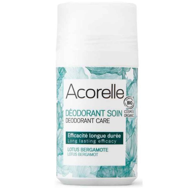 ONTS Φυσικά και Βιολογικά προϊόντα περιποίησης και ομορφιάς Acorelle Deodorant Long Lasting Lotus Bergamot Χάρη στο μηχανισμό Roll on, διευκολύνεται η εφαρμογή του. Ιδανικό για καθημερινή χρήση. 100% φυσικό άρωμα Λωτού και Περγαμόντο, που χαρίζει φρεσκάδα και αποτρέπει την κακοσμία. Vegan.