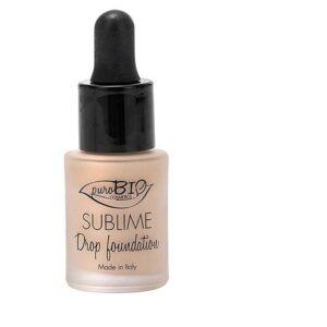 ONTS Βιολογικό μακιγιάζ Purobio Sublime Drop Foundation Βιολογικό Vegan make up, με σύνθεση ελαφριά, κατά της ρύπανσης και SPF10