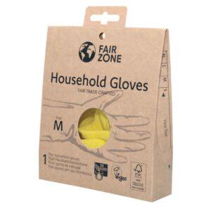 ONTS Βιολογικά και φυσικά περιποίησης σπιτιού Fair Squared Γάντια οικιακής χρήσης, Vegan, βιοαποικοδομήσιμα, από 100% πιστοποιημένο φυσικό καουτσούκ και εσωτερική επένδυση από βαμβάκι