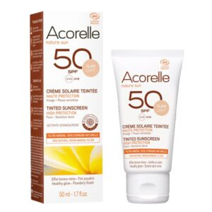Acorelle Tinted Sunscreen SPF50, light colour