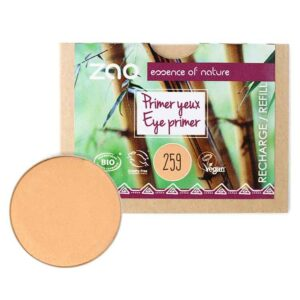 ONTS Προϊόντα Βιολογικού και Φυσικού Μακιγιάζ. Το Zao Eye Primer προετοιμάζει τα βλέφαρα για την εφαρμογή των προϊόντων μακιγιάζ. Εφαρμόζεται εύκολα με τα δάχτυλα και εξισορροπεί τον χρωματικό τόνο του δέρματος. Εμπλουτισμένο με οργανικό κερί Carnauba. ΑΝΤΑΛΛΑΚΤΙΚΟ