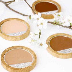 ONTS Προϊόντα βιολογικού και vegan μακιγιάζ Zao Compact Foundation: Compact make up, 100% φυσικό, βιολογικό & Vegan. ΑΝΤΑΛΛΑΚΤΙΚΌ. Καλύπτει απόλυτα τις ατέλειες, εμπλουτισμένο με πούδρα και εκχύλισμα Bamboo