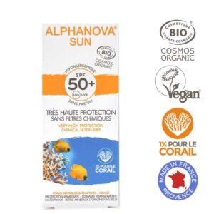 Βιολογική υποαλλεργική αντηλιακή κρέμα προσώπου SPF 50+ - 50g
