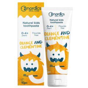 Φυσική οδοντόκρεμα για παιδιά 0-4+ χρονών, με γεύση πορτοκαλιού και μανταρινιού - 50ml