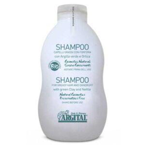 Βιολογικό σαμπουάν για λιπαρά μαλλιά & πιτυρίδα με πράσινο Άργιλο - 500ml