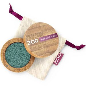 ONTS Φυσικά και Πιστοποιημένα Βιολογικά Προϊόντα Μακιγιάζ. Zao Eyeshadow Ultra Shiny: Εύχρηστες σκιές ματιών με λαμπερά highlights, μεταξένια υφή, έντονη χρωματική απόδοση και συστατικά που θρέφουν.