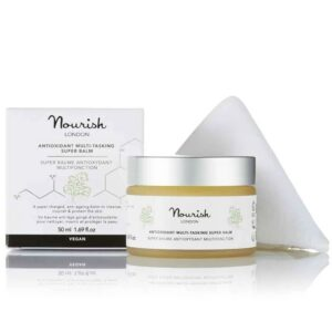 Nourish London Antioxidant Multi-Tasking Super Balm: Οργανικό, ενισχυμένο, αντιγηραντικό, πολυχρηστικό balm για καθαρισμό, θρέψη και προστασία του δέρματος.