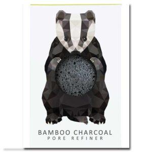 ONTS Φυσικά και Πιστοποιημένα Βιολογικά Προϊόντα Περιποίησης Προσώπου και Σώματος. Woodland Creatures Mini Pore Refiner with Bamboo Charcoal . Σφουγγαράκι προσώπου από αγνό Konjac και άνθρακα από μπαμπού, για βαθύ καθαρισμό των πόρων.