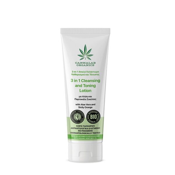 Cannalab Organics 3 in 1 Cleansing and Toning Lotion