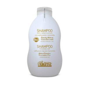 Argital Βιολογικό σαμπουάν με Πράσινο Άργιλο για ξανθά & αδύναμα μαλλιά - 500ml