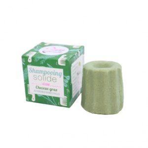 Στερεό 100% φυσικό σαμπουάν για λιπαρά μαλλιά με Άγρια Βότανα - 55g